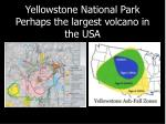 yellowstone national park perhaps the largest volcano in the usa