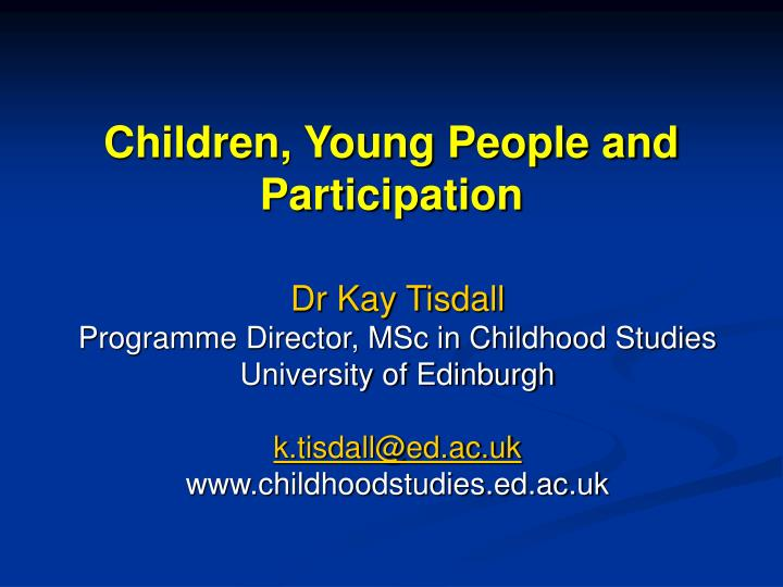 children young people and participation n.