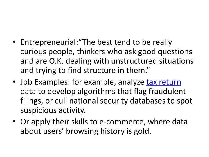 "Entrepreneurial:""The"