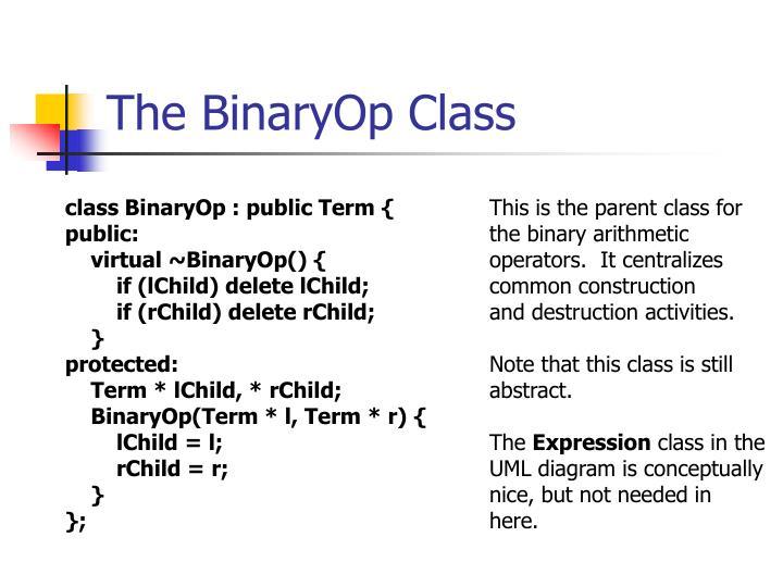 The BinaryOp Class