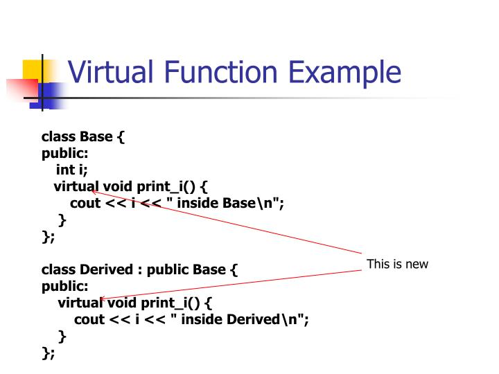 Virtual Function Example