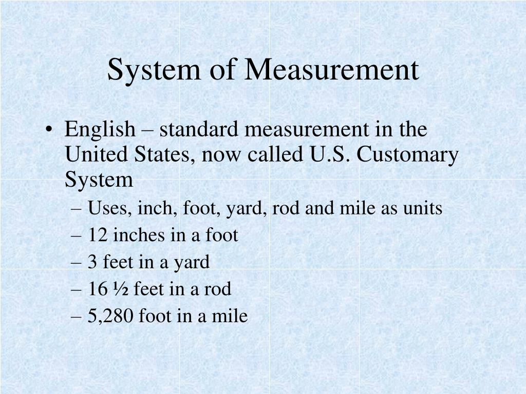 PPT - System of Measurement PowerPoint Presentation - ID:4479166
