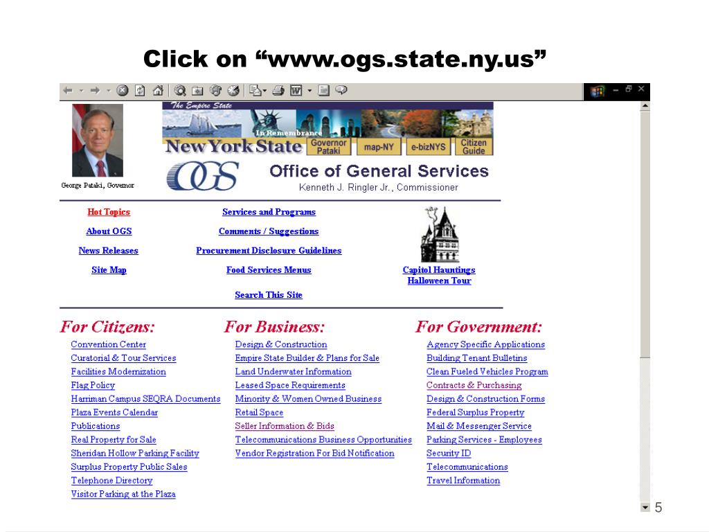 PPT - Doing Business with New York State: NYS Office of