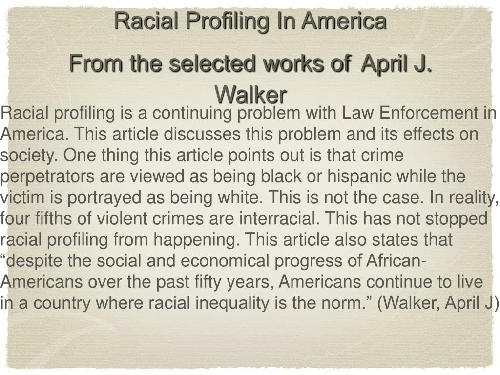 PPT - Racial Profiling in America PowerPoint Presentation - ID:4479240