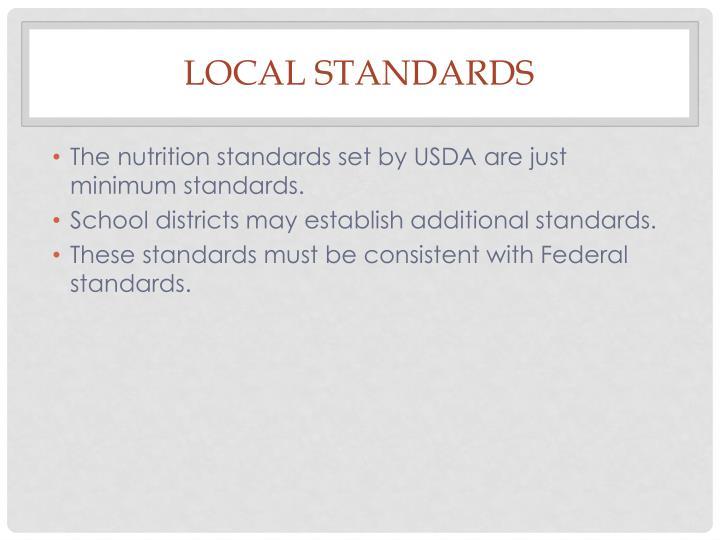 Local Standards