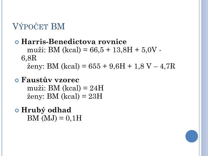 Výpočet BM