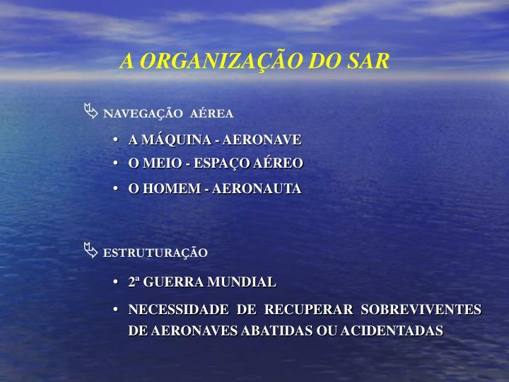 A ORGANIZAÇÃO DO SAR