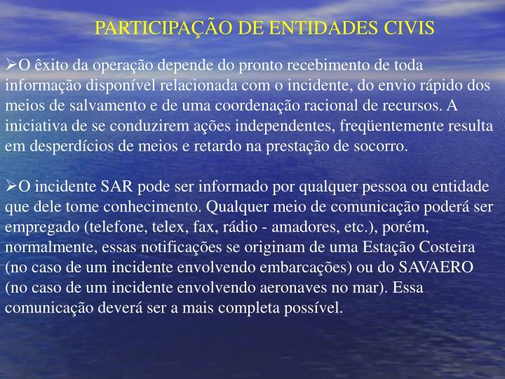PARTICIPAÇÃO DE ENTIDADES CIVIS