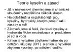 teorie kyselin a z sad