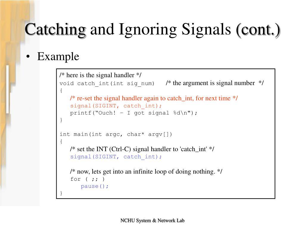 PPT - Lab #8 Signals PowerPoint Presentation - ID:4479623