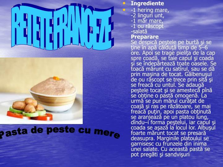 RETETE FRANCEZE