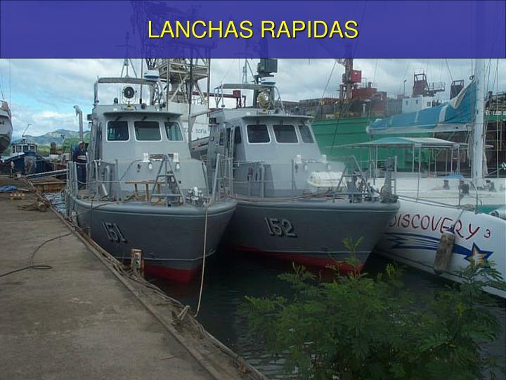 LANCHAS RAPIDAS
