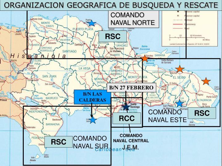 ORGANIZACION GEOGRAFICA DE BUSQUEDA Y RESCATE
