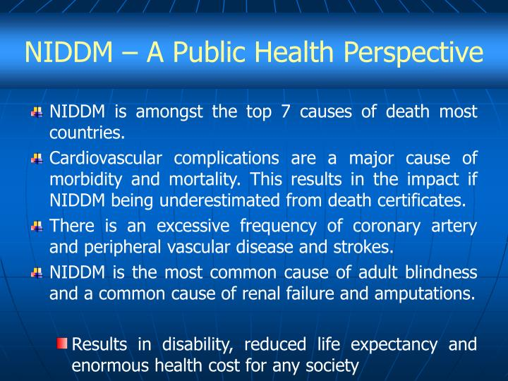 NIDDM – A Public Health Perspective
