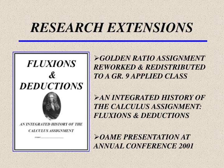 research extensions n.