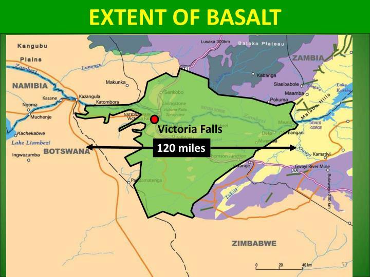 EXTENT OF BASALT