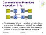 communication primitives network on chip