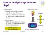 how to design a system on chip