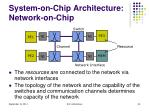 system on chip architecture network on chip