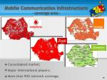 mobile communication infrastructure coverage area