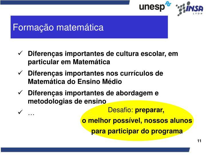 Formação matemática