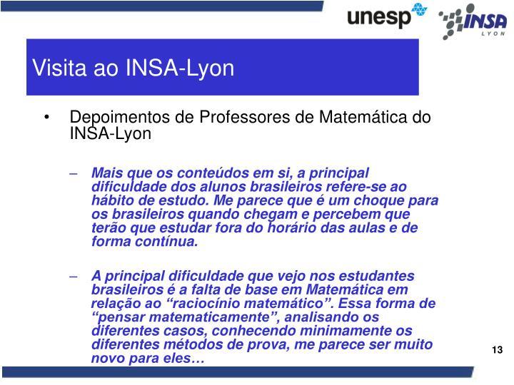 Visita ao INSA-Lyon
