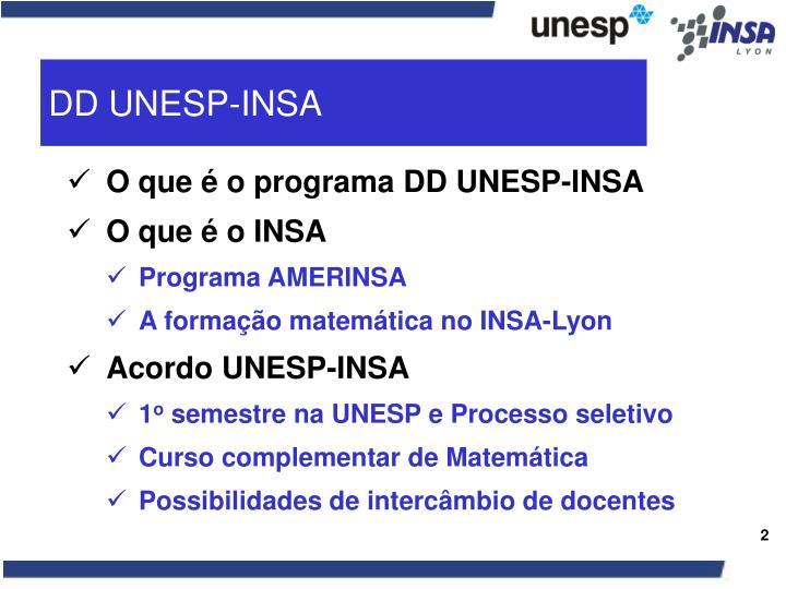 DD UNESP-INSA