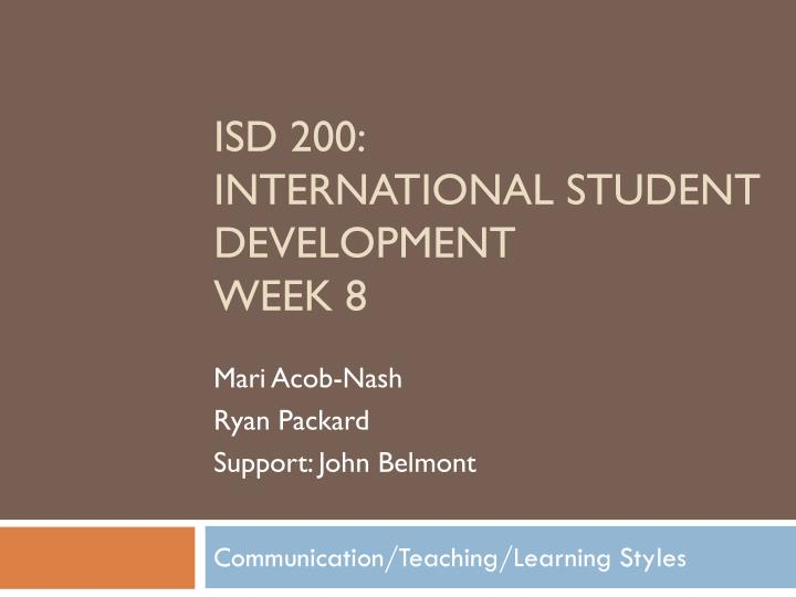 Communication teaching learning styles