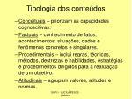tipologia dos conte dos
