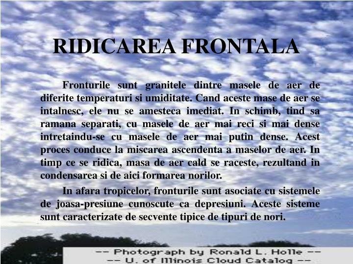 RIDICAREA FRONTALA