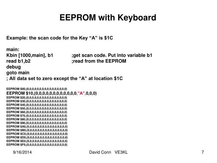 EEPROM with Keyboard