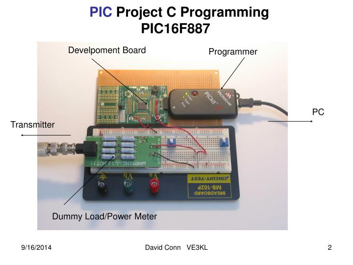 Pic project c programming pic16f887