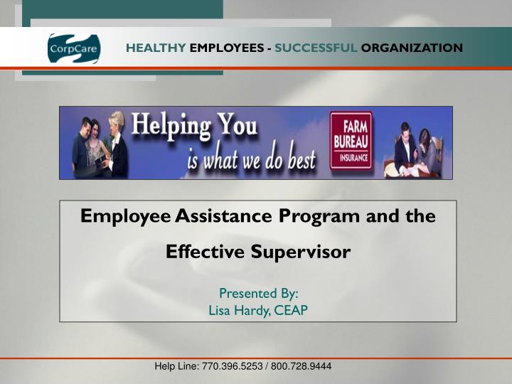 Employee Assistance Program and the