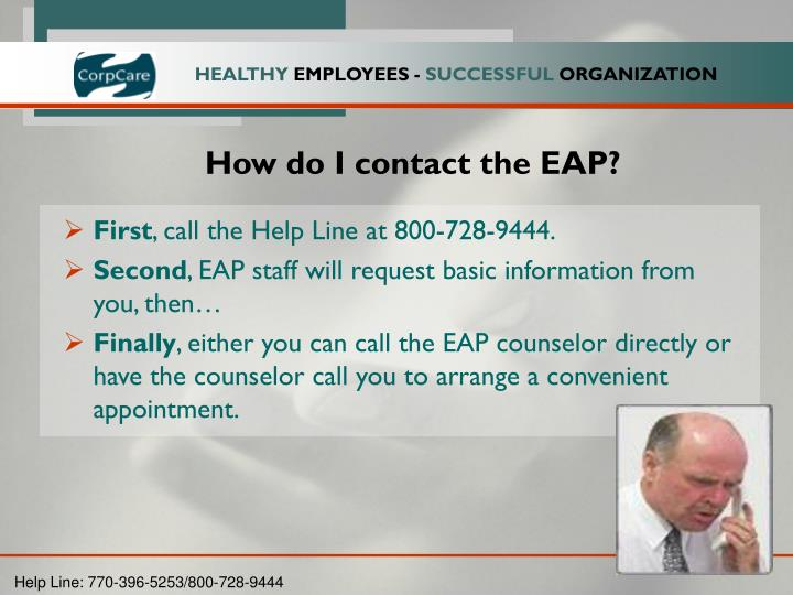 How do I contact the EAP?