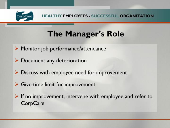The Manager's Role