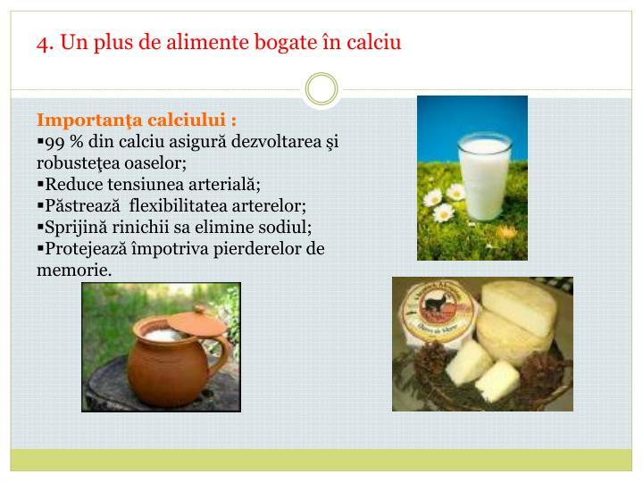 4. Un plus de alimente bogate în calciu