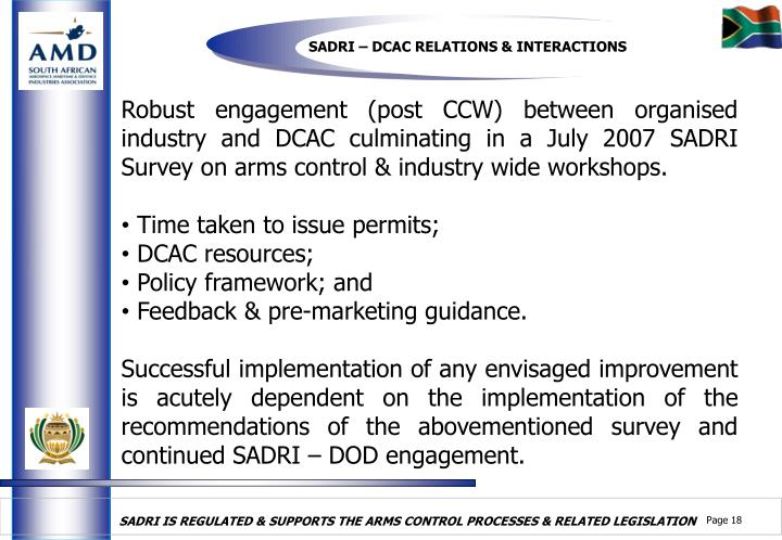 SADRI – DCAC RELATIONS & INTERACTIONS