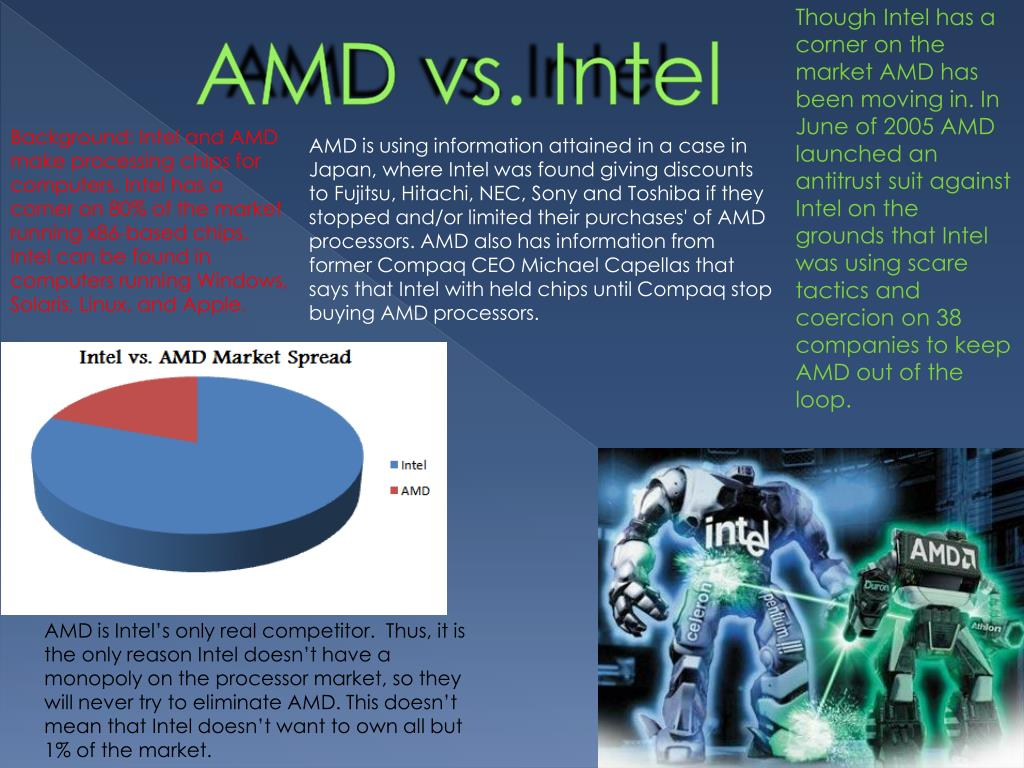 PPT - AMD vs  Intel PowerPoint Presentation - ID:4480693