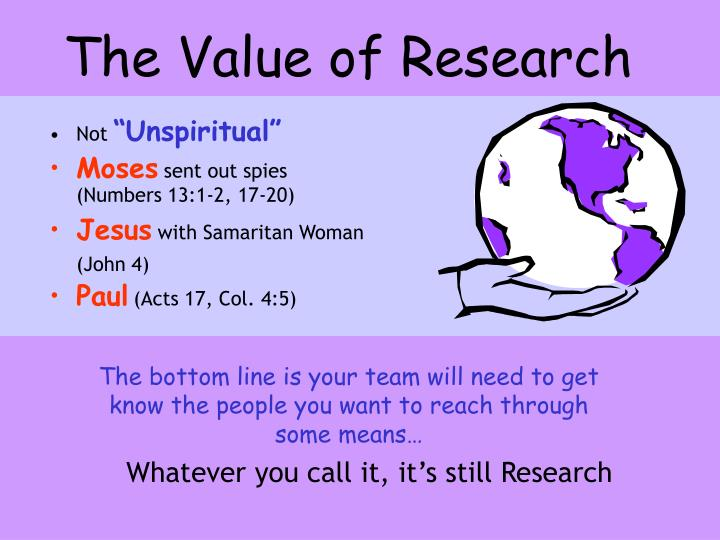 The Value of Research