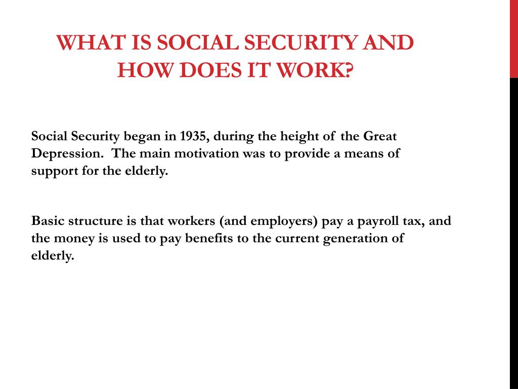PPT - Social Security PowerPoint Presentation - ID:4480802