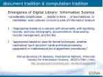 document tradition computation tradition