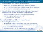 interoperability strategies interoperability challenges