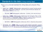 standards to cite data a long running saga