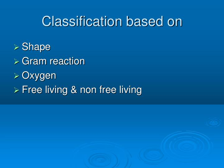 Classification based on