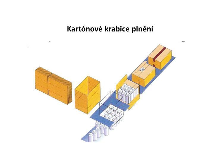 Kartónové krabice plnění