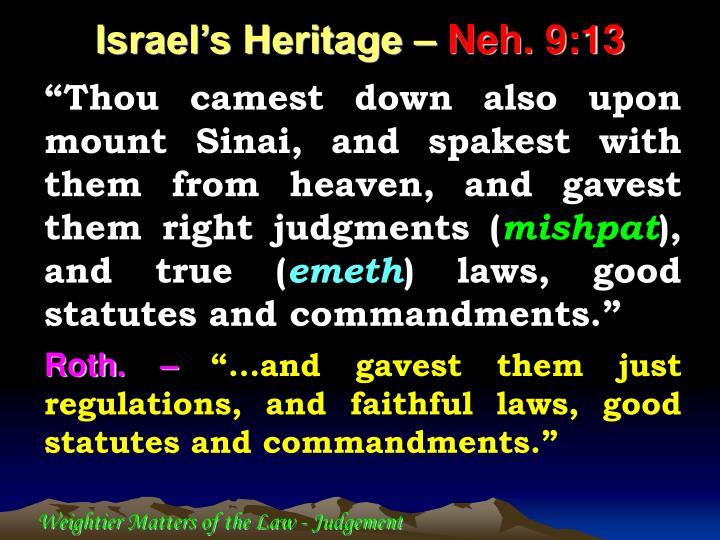 Israel's Heritage –