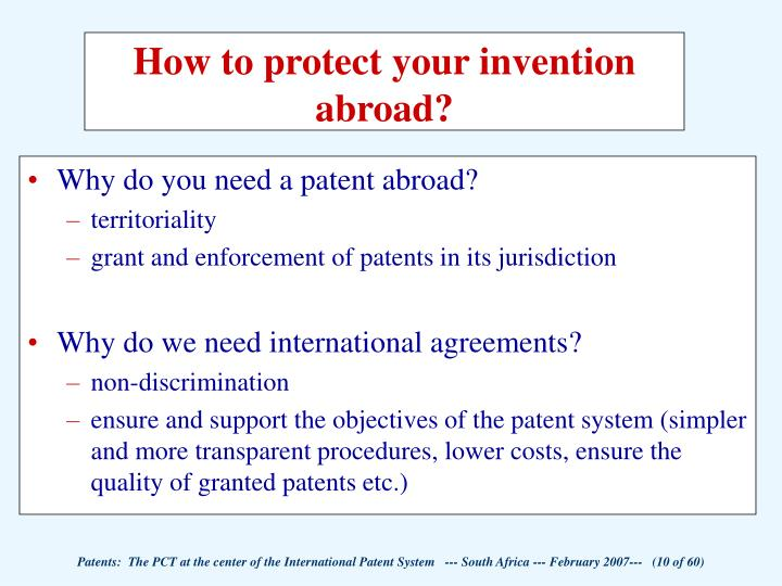 Ppt Patents The Patent Cooperation Treaty Pct At The Center Of