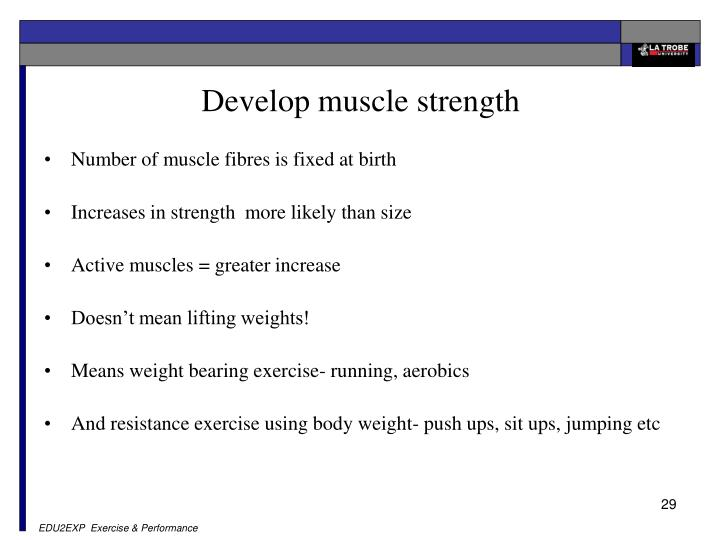how to develop body weight