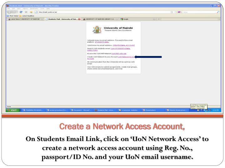 Create a Network Access Account,