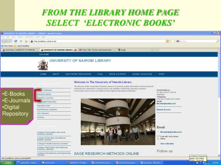 FROM THE LIBRARY HOME PAGE